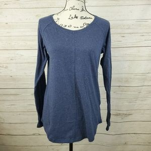 Columbia Blue Speckled Long Sleeve Top